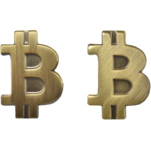 Bitcoin Pin mat gold