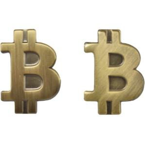 Przypinka Bitcoin Złota Matowa