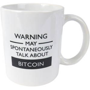 Kubek BITCOIN WARNING