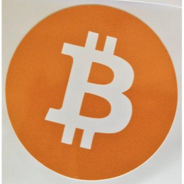 10 x naklejka Bitcoin 5x5cm