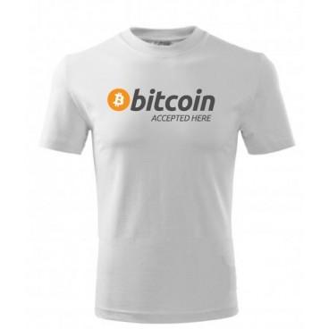 Koszulka Bitcoin Accepted Here