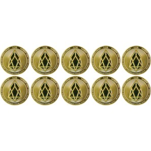 10x EOS Collector's coins gold