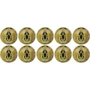 10x Moneta EOS Złota