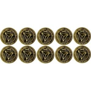 10x Moneta Tron Złota