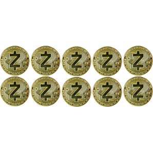 10x Moneta Zcash Złota