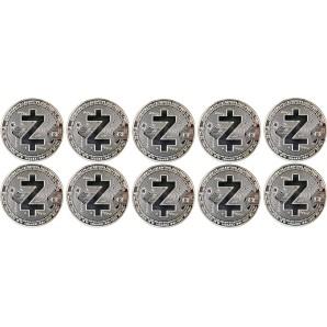 10x Moneta Zcash Srebrna