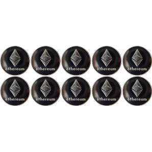 10x Moneta Ethereum Srebrna