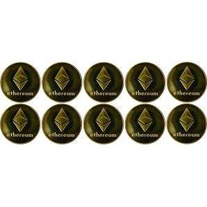 10x Moneta Ethereum Złota