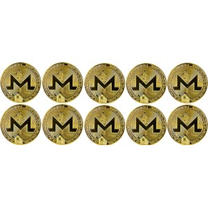 10x Moneta Monero Złota