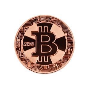Moneta Bitcoin Krzyż brązowa