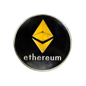 Moneta Ethereum złoto-srebrna