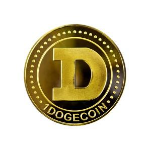 Moneta Dogecoin złota
