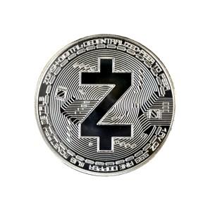 Moneta Zcash srebrna