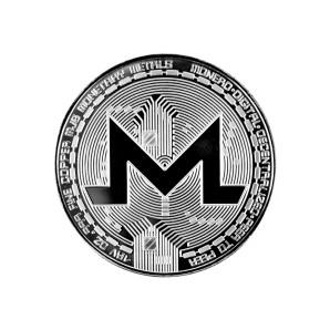 Moneta Monero srebrna