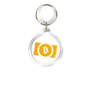 Brelok akrylowy Bitcoin Cash