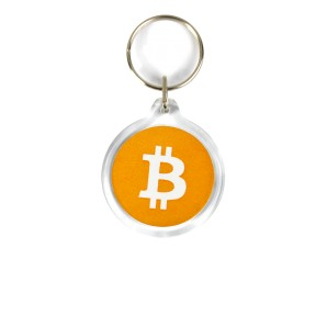 Bitcoin Acrylic Keyring