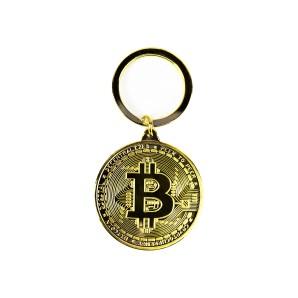 Brelok Bitcoin Złoty