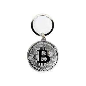 Bitcoin silver Keyring