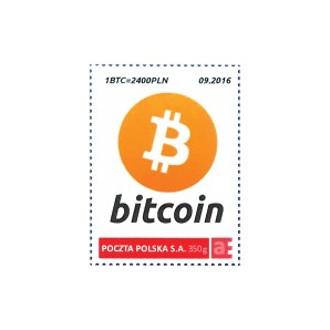 9x Bitcoin Stamp1 BTC 09/2016