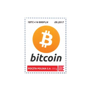 Znaczek Bitcoin 1 BTC...