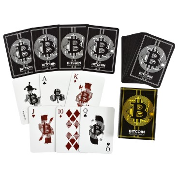 Karty do gry Bitcoin Kryptowaluty Flyingatom