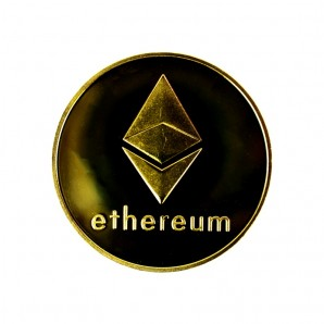 Moneta Ethereum złota