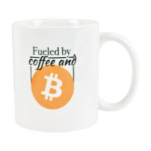 Bitcoin and Coffee Mug