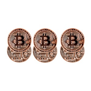 Bronze Bitcoin coin set