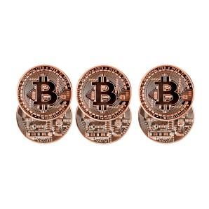 Zestaw monet Bitcoin Brązowy