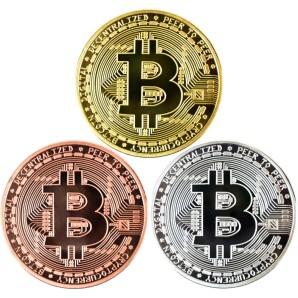 Zestaw monet Bitcoin