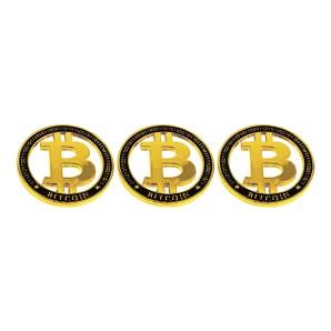 Gold-silver Bitcoin coin set