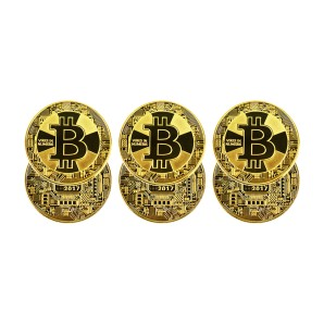 Bitcoin gold cross coin set