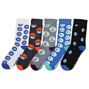 Five pack mix of Crypto Socks