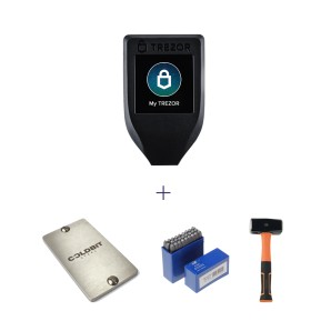 Trezor Model T + Coldbit Steel