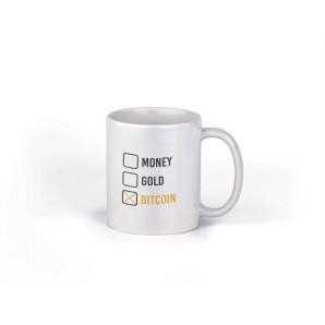 Kubek Money Gold Bitcoin
