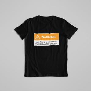 Koszulka Bitcoin Warning