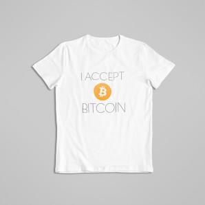 Koszulka Bitcoin Accept Lite