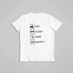 Bitcoin Routine t-shirt