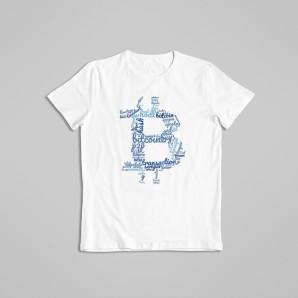 Koszulka Bitcoin Błękitny