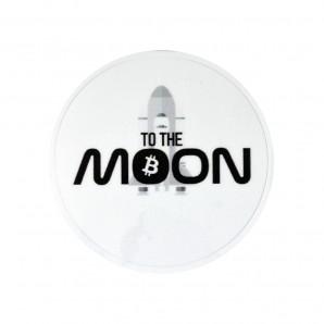 3x Naklejka Bitcoin MOON