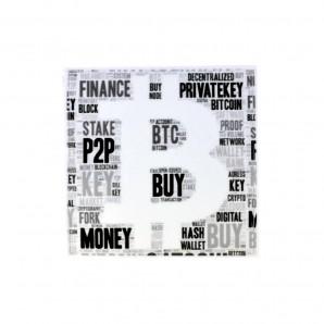3x Naklejka Bitcoin Cash