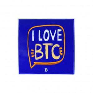 3x I Love BTC Stickers