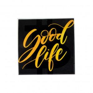 3x Naklejka Gold Good Life