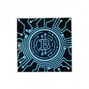 3x Bitcoin Cyber Stickers