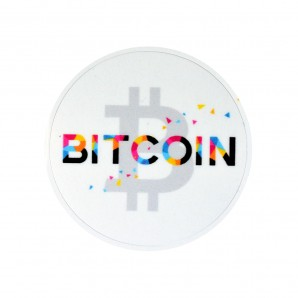 3x Colorful Bitcoin Stickers