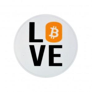 3x Naklejka Bitcoin Love