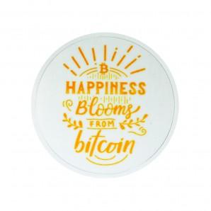 3x Naklejka Bitcoin Hapiness