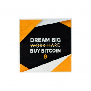3x Naklejka Bitcoin Big Dream