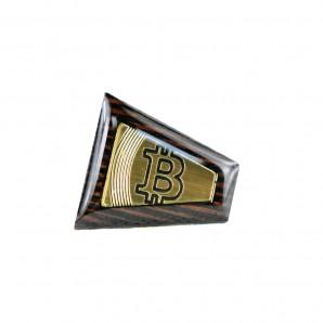 Drewniana Przypinka Bitcoin