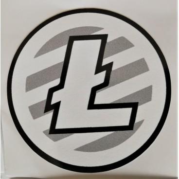 10 x naklejka Litecoin 5x5cm